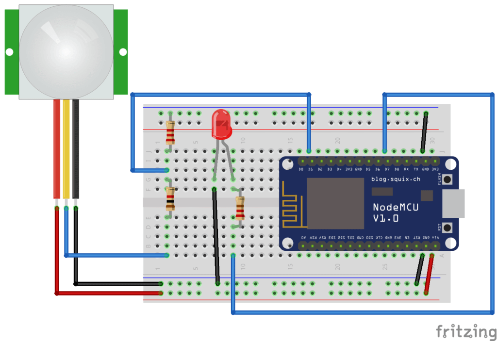Motion Detection Using Nodemcu Amp Blynk Module143