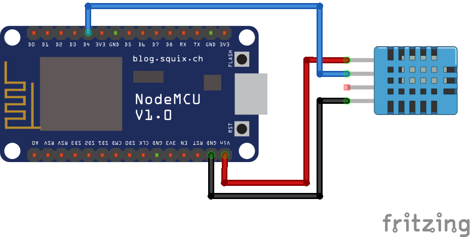 temperature and humidity using nodemcu and blynk module143  circuit diagram