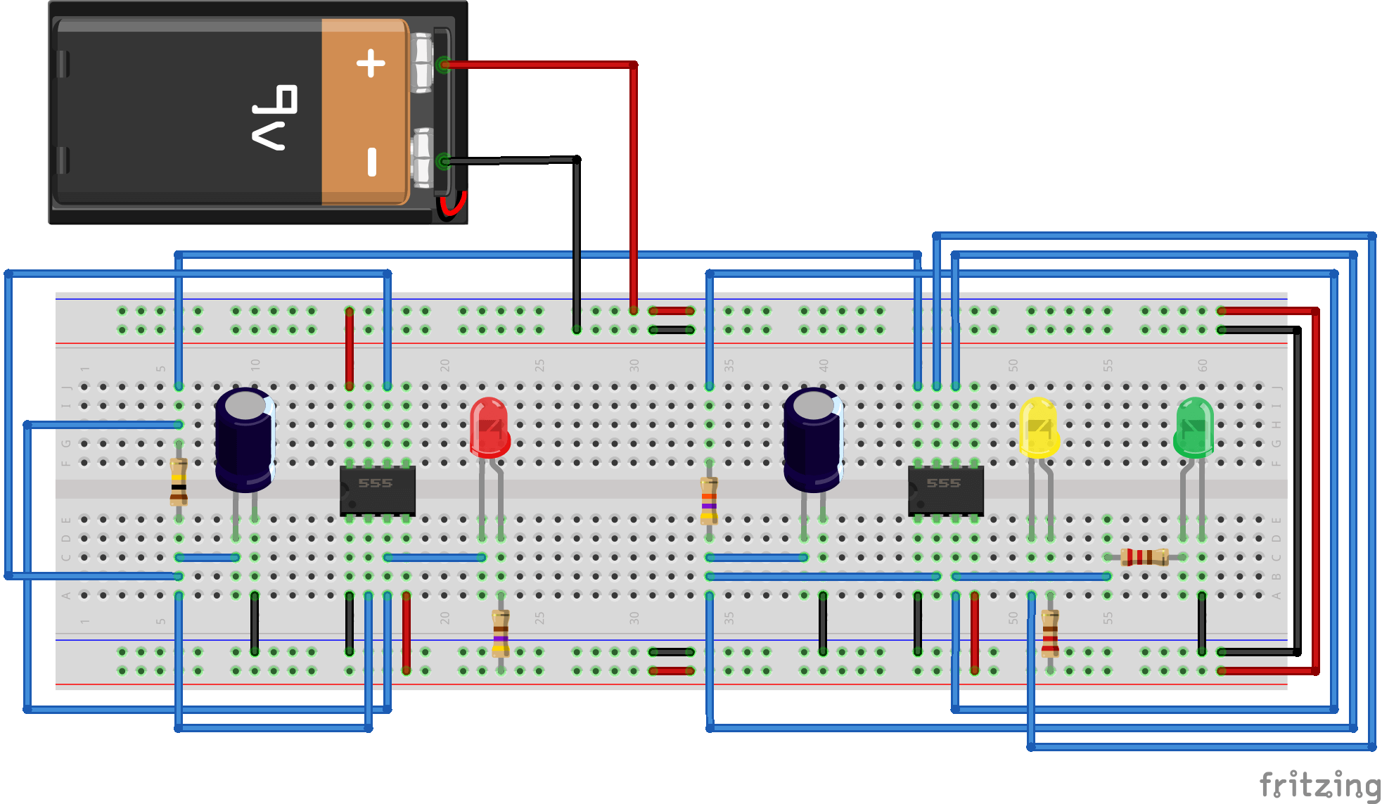 Fresher Kit Module143 So The Leds Are Not Over Driven 555 Ic Projects And 4017ic Connecting High Low To Pin 3 Will Work Since 7 Is In Phase With It Can Be Used Advantage This Design